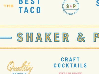 Shake It. Peel it. logo brand branding typogaphy type stamp seal restaurant print marks color