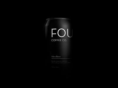 The Dark Side branding packaging label food drink design nitrobrew coldbrew coffee can