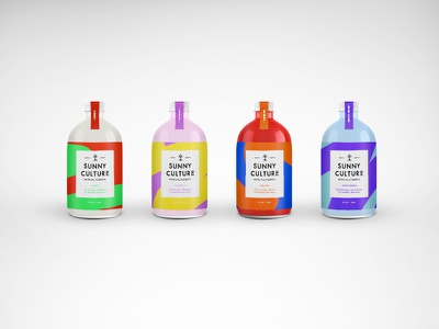 Sunny Days type brand bold packaging branding design label can bottle probiotic water