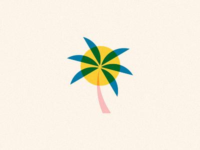 So Cal palmtree texture pattern movement modern illustration sun tree palm