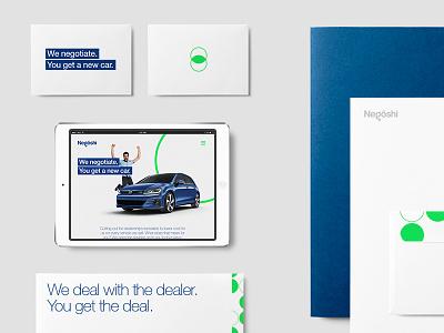 We Negotiate. card business ipad mockup logotype logo illustration car collateral branding
