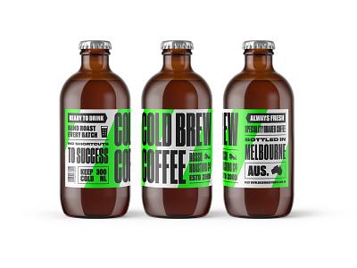 No Shortcuts To Success logo typography packaging design label coldbrew coffee branding