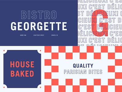 C'est Délicieux restaurant food pattern minimal bold vintage typography street logo industrial french badge