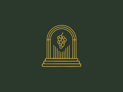 Vin·er·ate venerate altar wine vine logo grapes identity handdrawn brand