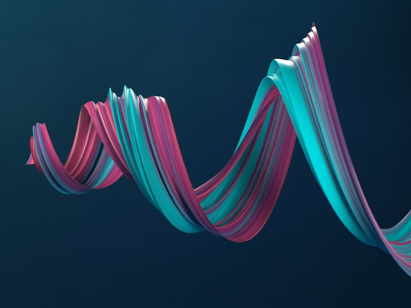 Ribbon c4d dailyrender color abstract 3d