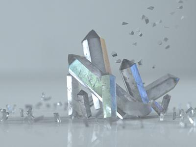 Crystals texture octane 3dart 3d glass c4d
