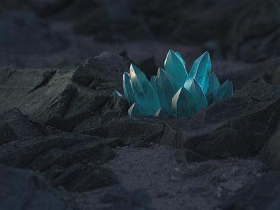 Hidden Gems crystal megascans c4d 3d art 3d