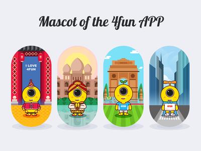 Mascot of the 4fun APP