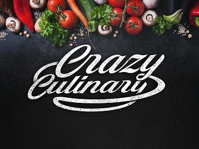 Crazy Culinary crazy plate culinary food logotype logo