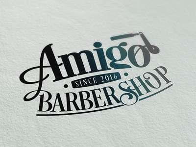 Amigo Barber Shop slovakia shop barber logotype logo