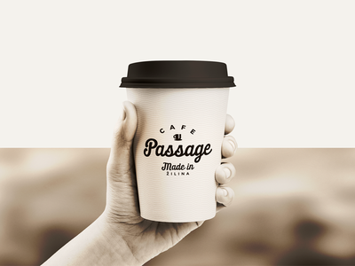 Cafe Passage hand cup wine slovakia logotype logo coffee cafe
