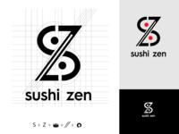 """""""Sushi Zen"""". Logo for challenge #5"""