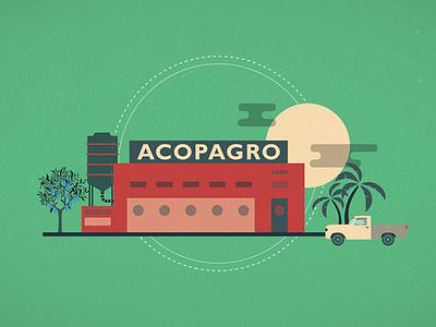 Alter Eco Acopagro truck palm cocoa warehouse silo tree car works plant mill farm factory