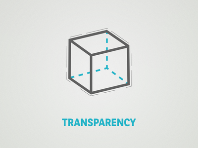 Transparency clearness clarity dash blue line cube