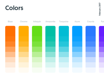 Colors, Kitt : Ornikar Design System design system style guide ui kit shades palette swatches colors
