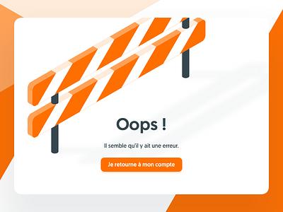 404, Kitt : Ornikar Design System isometric isometry barrier illustration modal popin navigation design system style guide ui kit 404