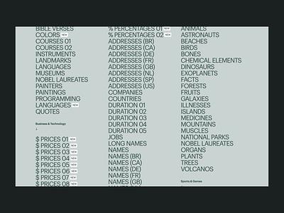 Populate typography webflow side-project project data download sketch ressource freebie website