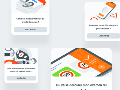🆕 illustratedCards faq illustration help webapp app navigation ui website style guide design system responsive isometry isometric