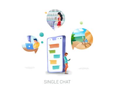 Artistic Illustration - for message app
