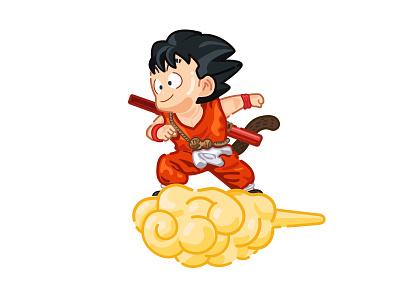 Dragon Ball #Goku color simple icon logo comic art illustration vector