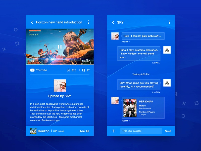 PSN Redesign #3 by Threest on Dribbble