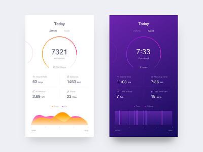 Fitness app #1 icon run sleep fitness clean android ios app ux ui