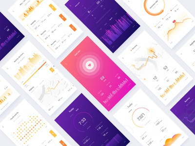 Fitness app ux ui setting run rate ios icon fitness color clean app android