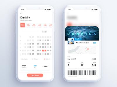 Movie app Seen #4 android app clean movie icon ios11 ui ux ticket film popular iphone x
