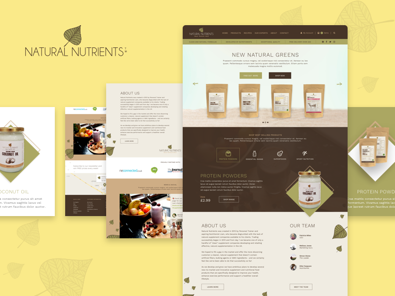 Natural Nutrients - Homepage Redesign