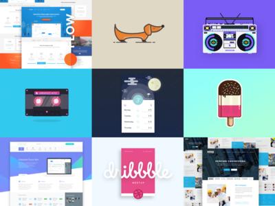 Best 9 for 2016 meetup colour dribbble icons website blackformat ux webdesign illustration ui design best9