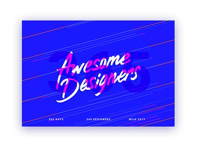 365 Awesome Designers Curator webdesign curator website illustration ux ui awesome card design