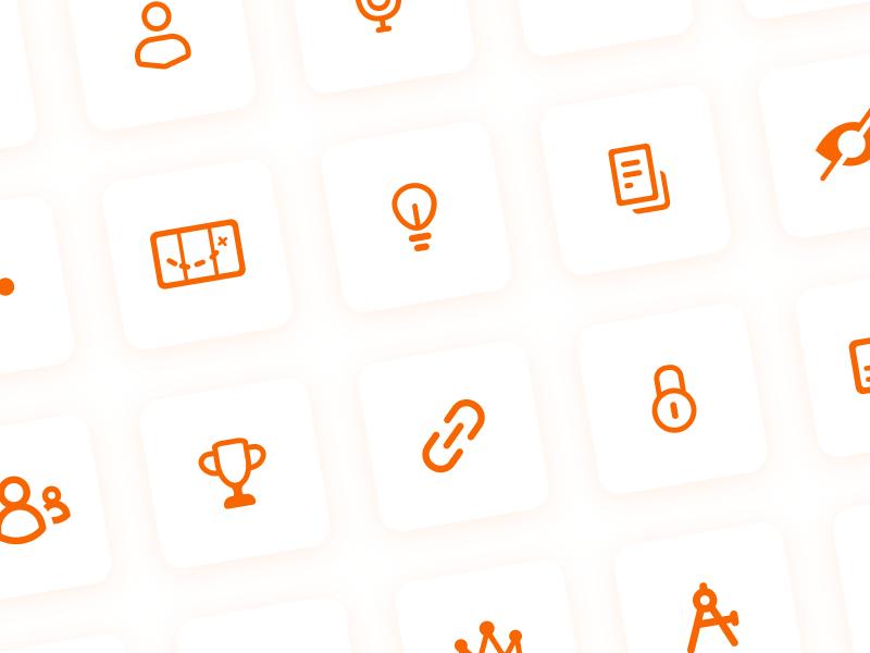 Mango Languages Icons figma vector illustration bulb memory profile design mango languages mango ux ui icons