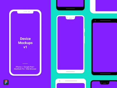 Device Mockups V1 browser macbookpro flat ios pixel android iphone devices figmadesign mockups figma illustration