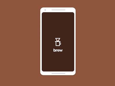 Brew App Prototype invision android ios application coffee ux ui design prototype animation invision studio app