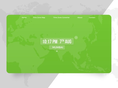 Second tab of the World Clock Landing page Page (DailyUI 003)