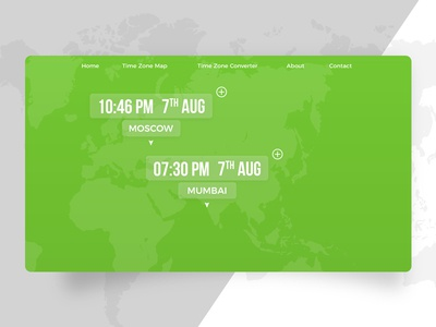 Third tab of the World Clock Landing page Page (DailyUI 003)
