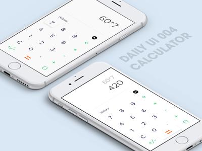 Calculator (DailyUI 004)