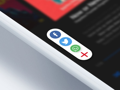 Social Share buttons for Daily UI 010