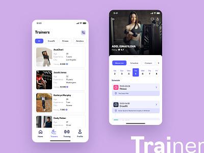 Fitness App app fitnessapp mobile design uxui motion