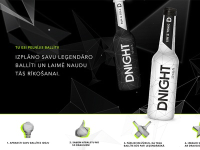 DNIGHT packaging identity branding web icon black white