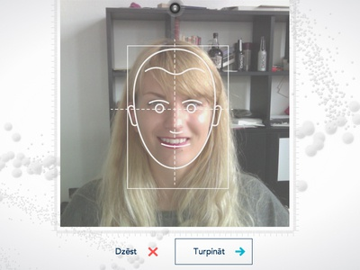 Altum  design 3d background web ui webcam face facial recognition fun