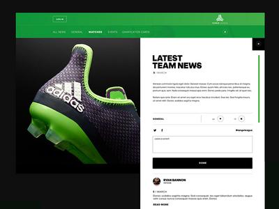 Adidas Tango League ui website adidas