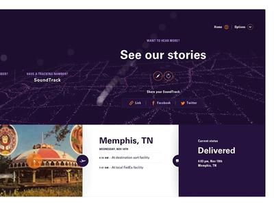 Fedex Soundtrack layout ui website