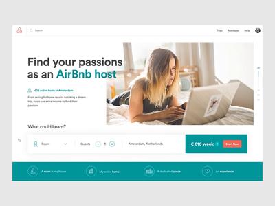 Airbnb. Become a Host design digital grid website web ux ui design ui product design layout landing interactions