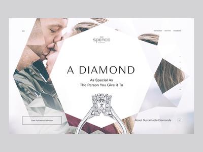 Spence Diamonds platform interaction design website web ux ui design ui product design layout landing interactions