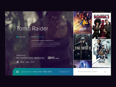 Dolby platform redesign interactions interaction design grid layout ui web website