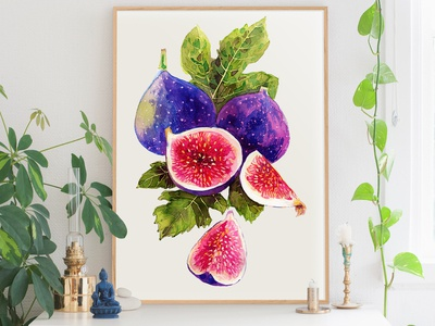 Figs art print for your interior.