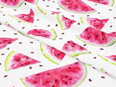 Watercolor watermelon pattern.