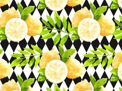 Watercolor Lemon Set illustrations.