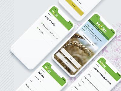 Radovi4 branding design iphone x agriculture uidesign